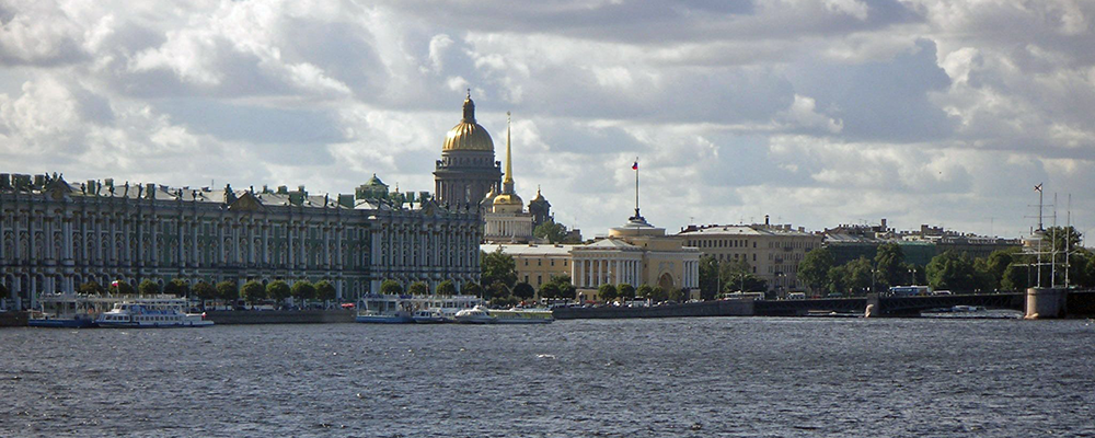 Panorama from the Neva River in Petersburg