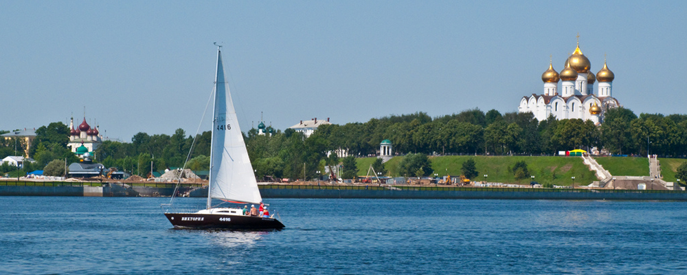 View of Yaroslavl' from the Volga River